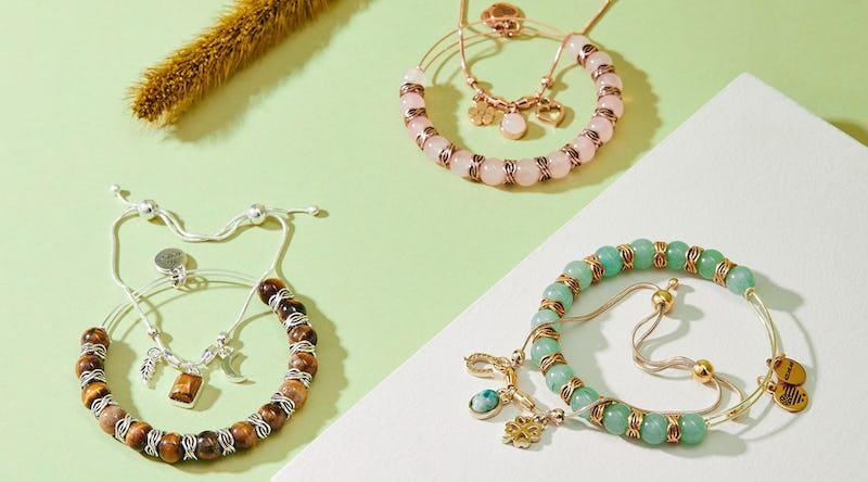 gemstone and symbol bracelet jewelry pairing