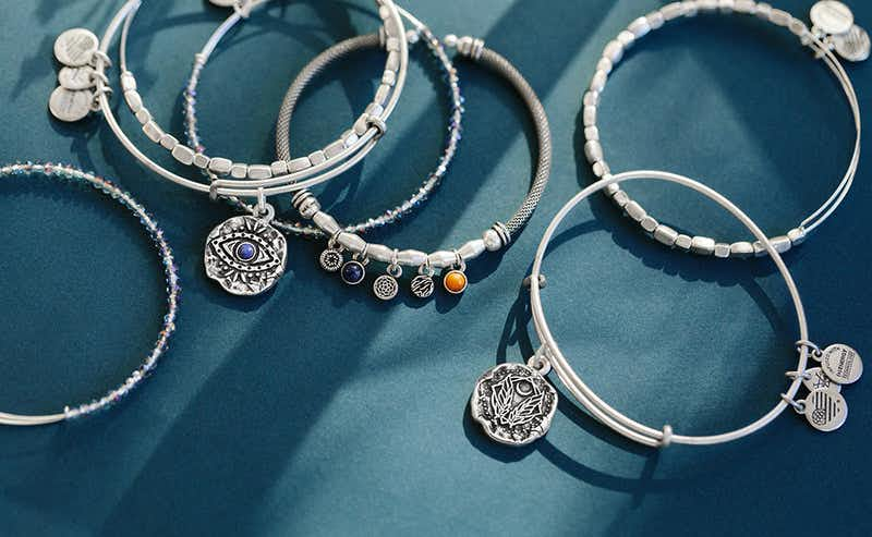 molten coin charm bracelet collection