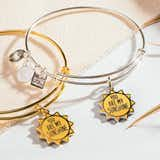 'You Are My Sunshine' Charm Bangle Bracelet