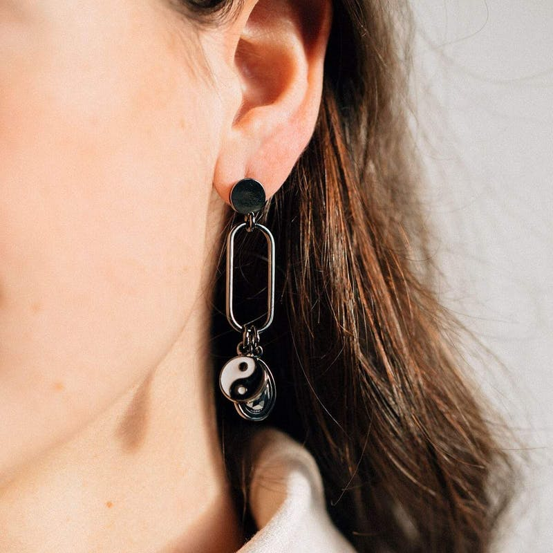 Balance Charm Drop Earrings