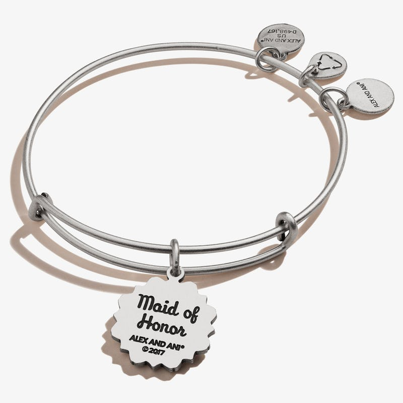 Maid of Honor Charm Bangle Bracelet