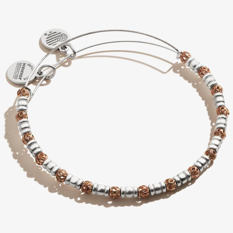 Orbit Beaded Bangle, .925 Sterling Silver, Alex and Ani