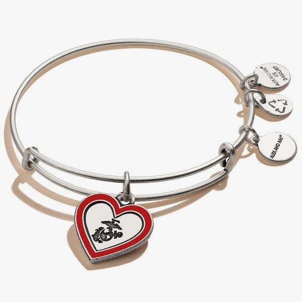 U.S. Marine Mom Charm Bangle
