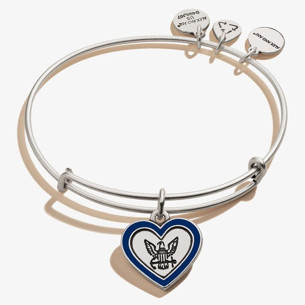 U.S. Navy Mom Charm Bangle