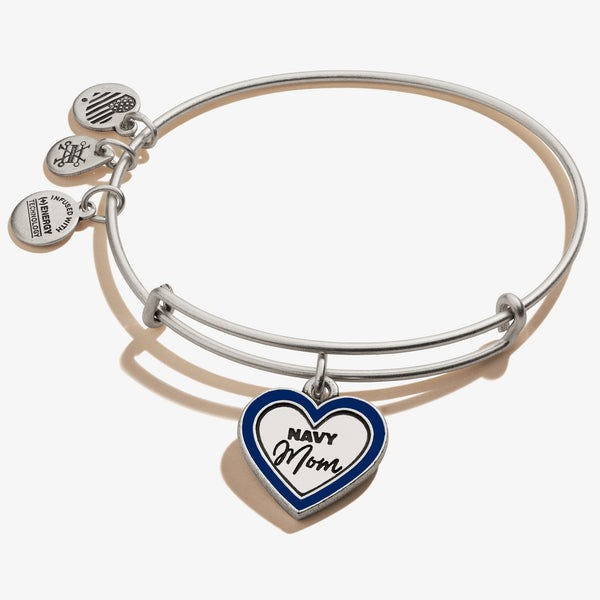 U.S. Navy Mom Charm Bangle, Rafaelian Silver, Alex and Ani