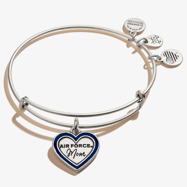 U.S. Air Force Mom Charm Bangle, Rafaelian Silver, Alex and Ani
