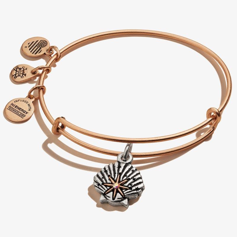 Star of Venus Charm Bangle, Rafaelian Rose Gold, Alex and Ani