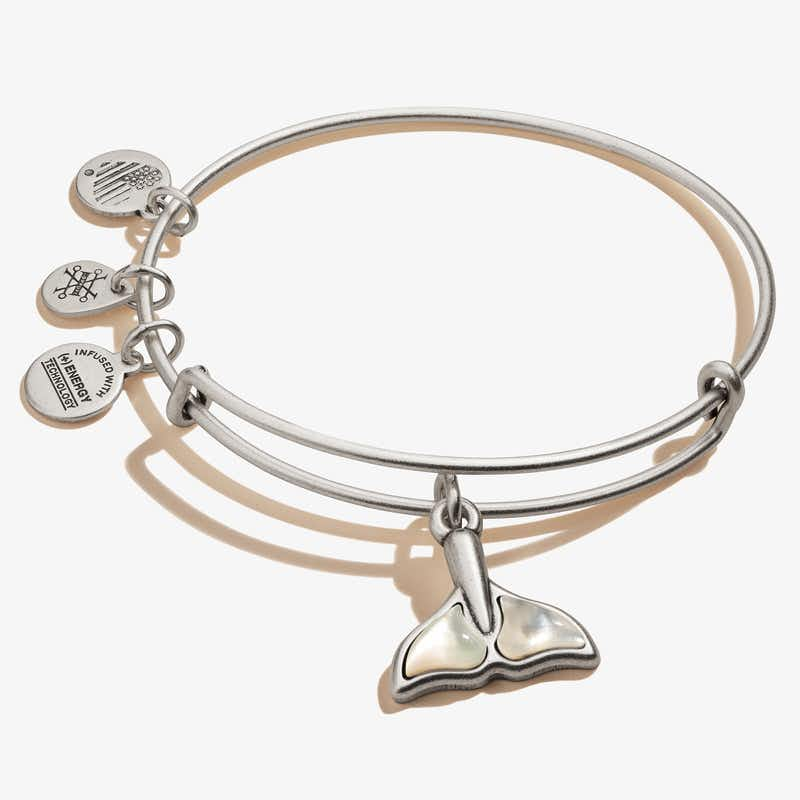 Whale Tail Charm Bangle, Rafaelian Silver, Alex and Ani