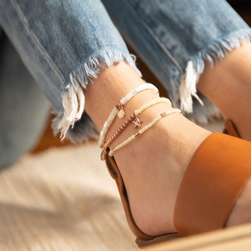 Scallop Shell Stretch Anklet