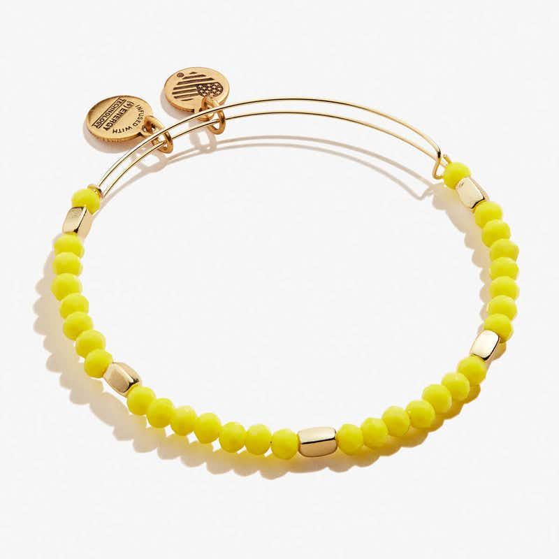 Yellow Balance Beaded Bangle