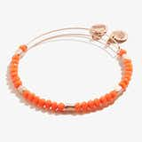 Tangerine Balance Beaded Bangle