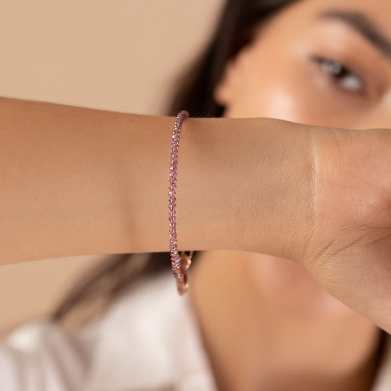 Lilac Stardust Beaded Bangle
