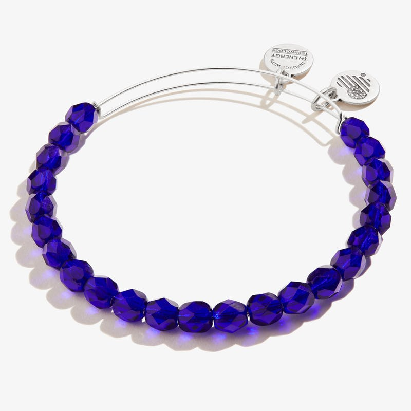 Cobalt Blue Pebble Beaded Bangle