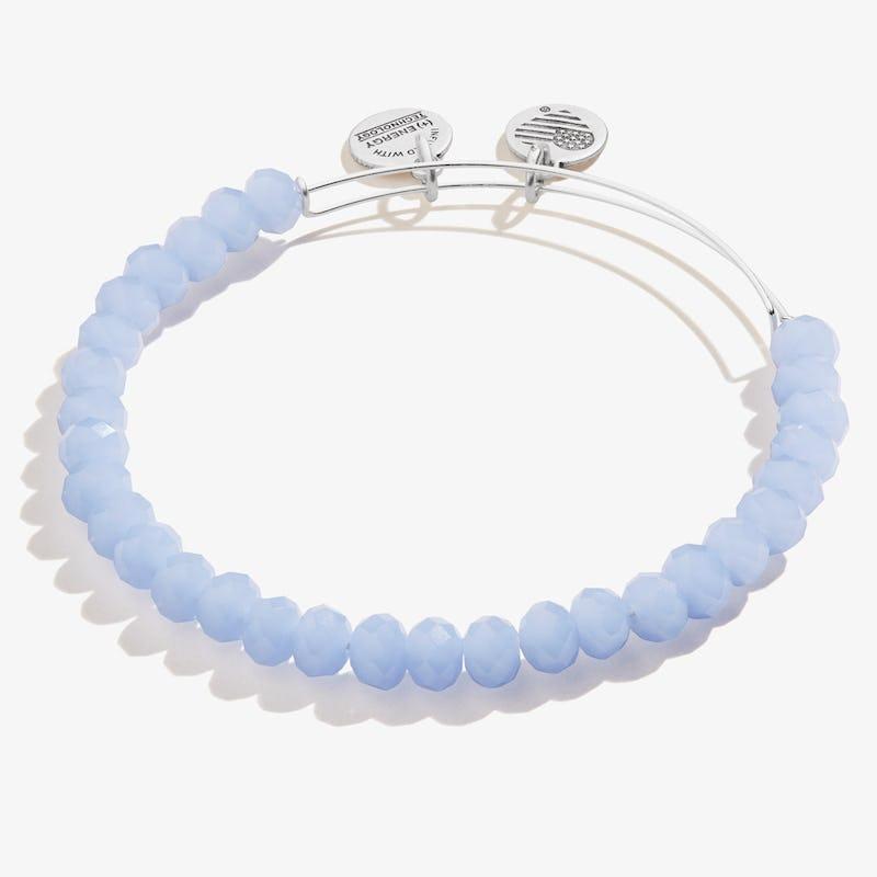 Opal Blue Pebble Beaded Bangle