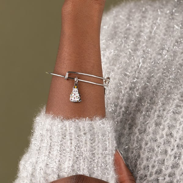 Holiday Cat Charm Bangle, Color
