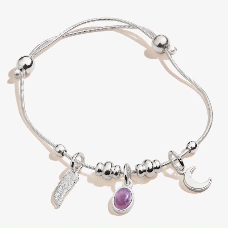 Moon + Amethyst Multi-Charm Bracelet