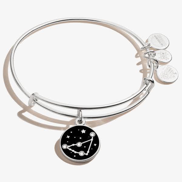 Capricorn Zodiac Charm Bangle, Shiny Silver, Alex and Ani