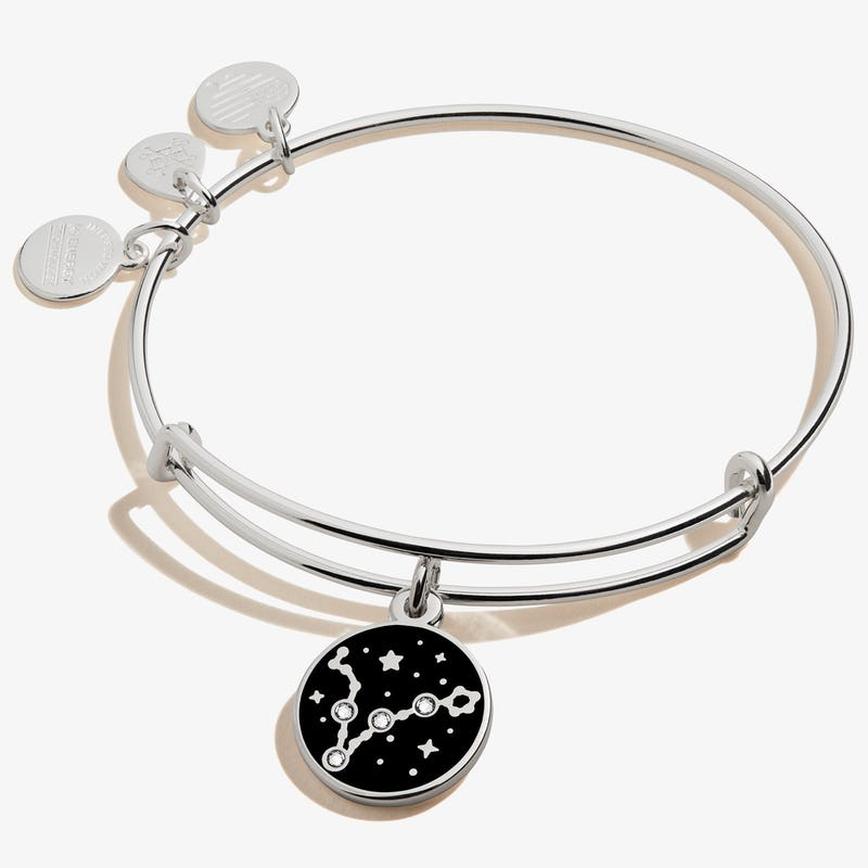 Pisces Zodiac Charm Bangle, Shiny Silver, Alex and Ani