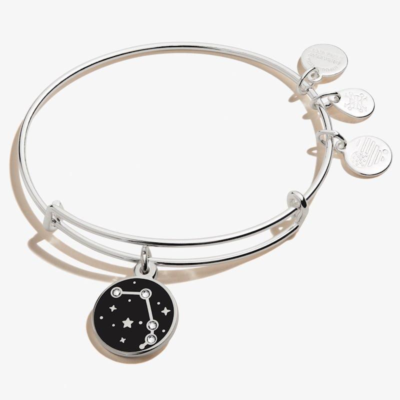 Aries Zodiac Charm Bangle, Shiny Silver, Alex and Ani