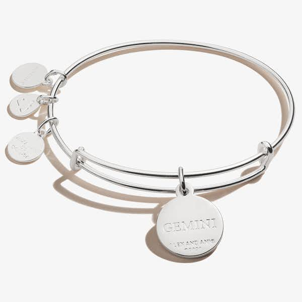 Gemini Zodiac Charm Bangle, Color
