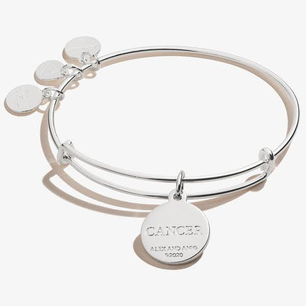 Cancer Zodiac Charm Bangle, Color