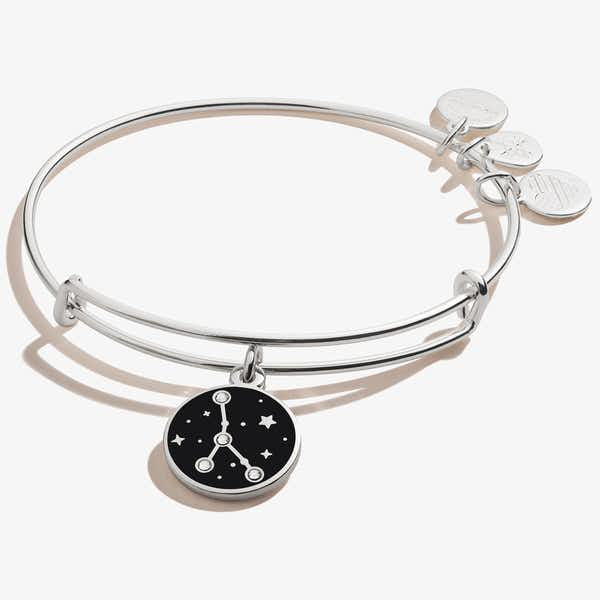 Cancer Zodiac Charm Bangle, Shiny Silver, Alex and Ani