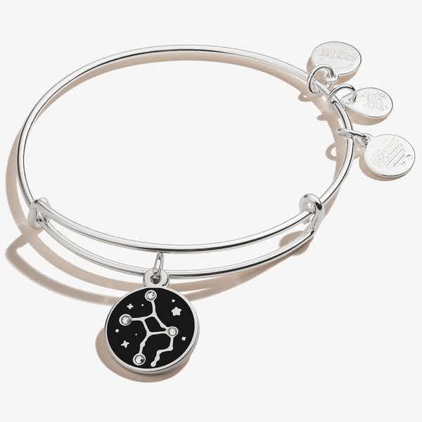 Virgo Zodiac Charm Bangle, Shiny Silver, Alex and Ani