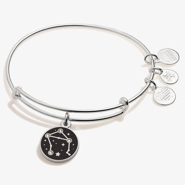 Libra Zodiac Charm Bangle, Shiny Silver, Alex and Ani