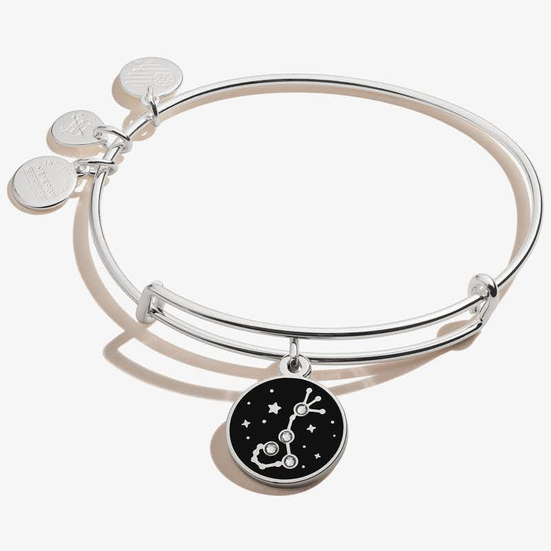 Scorpio Zodiac Charm Bangle, Shiny Silver, Alex and Ani
