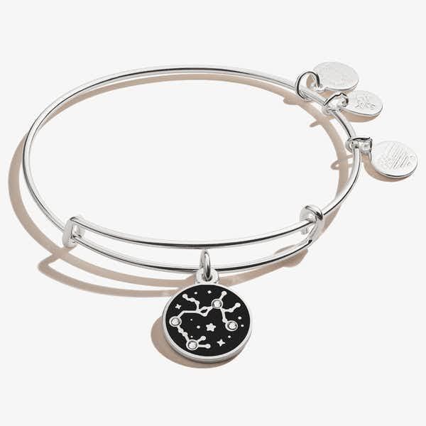 Sagittarius Zodiac Charm Bangle, Shiny Silver, Alex and Ani