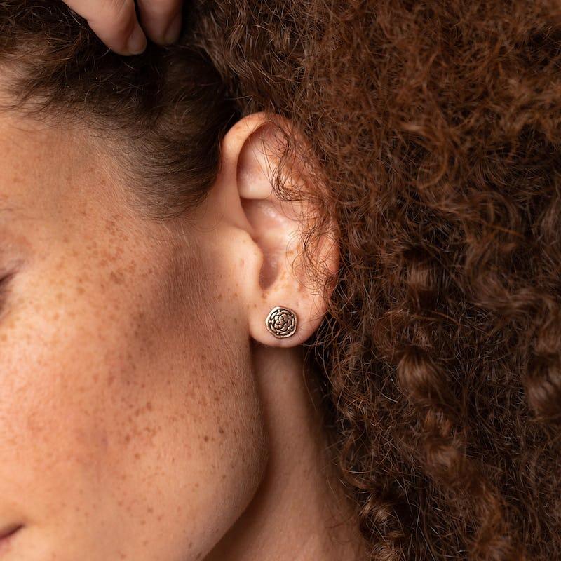 New Beginnings Molten Coin Stud Earrings