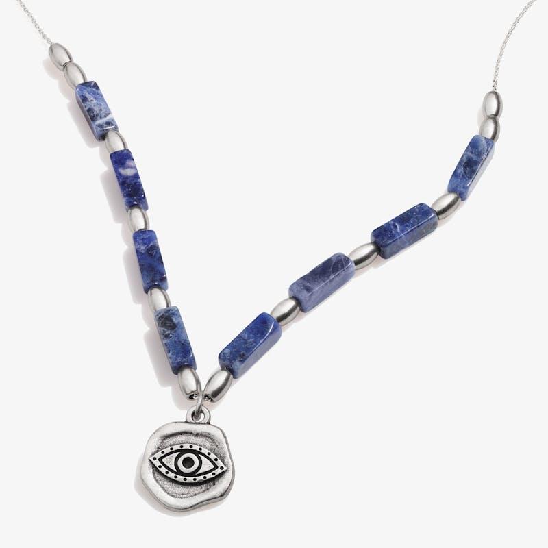 Evil Eye Charm + Sodalite Necklace, Rafaelian Silver, Alex and Ani