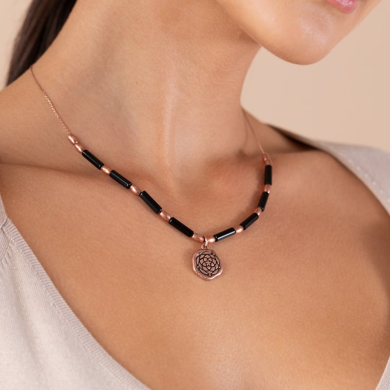 New Beginnings Charm + Onyx Necklace