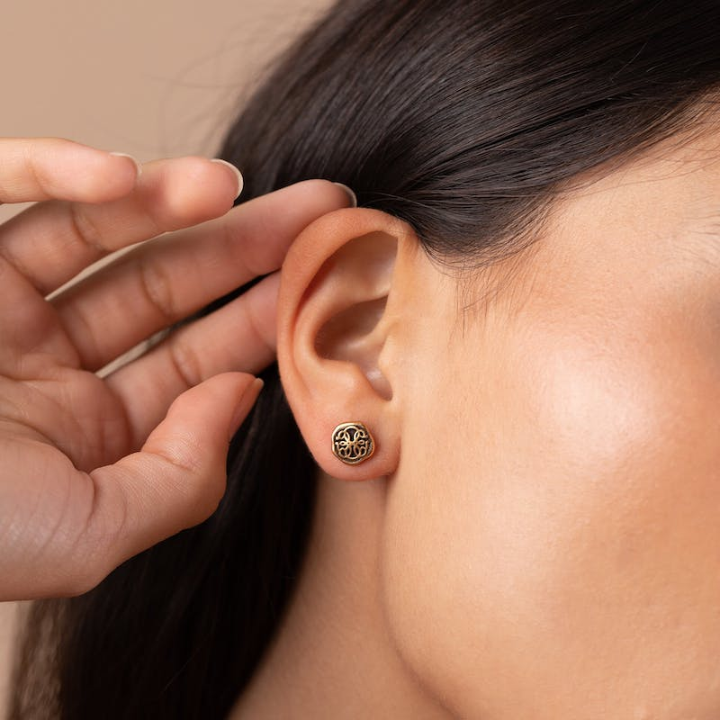 Path of Life® Molten Coin Stud Earrings