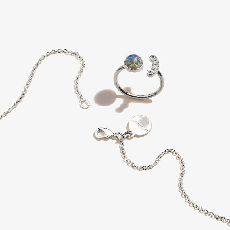 Star Charm Necklace + Crystal Ring Gift Set