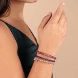 Purple Beaded Bracelets, Set of 3
