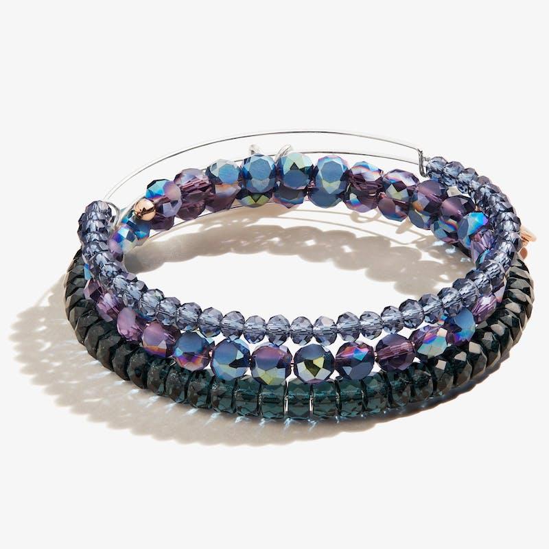 Midnight Blue Beaded Bracelets, Set of 3