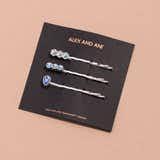 Sapphire + Snowflake Hair Pins, Set of 3