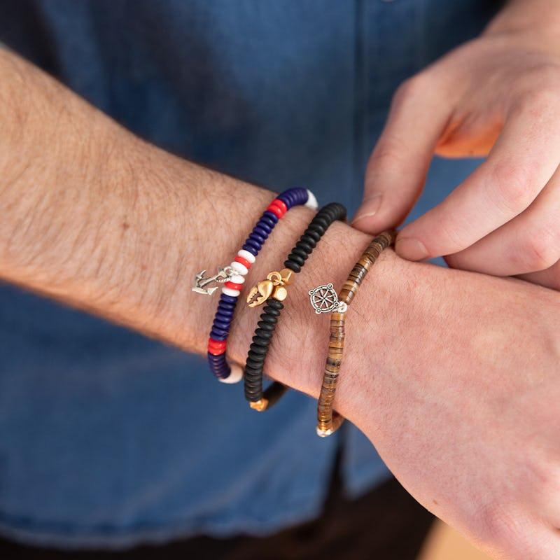 Anchor Stretch Bracelet, Men's