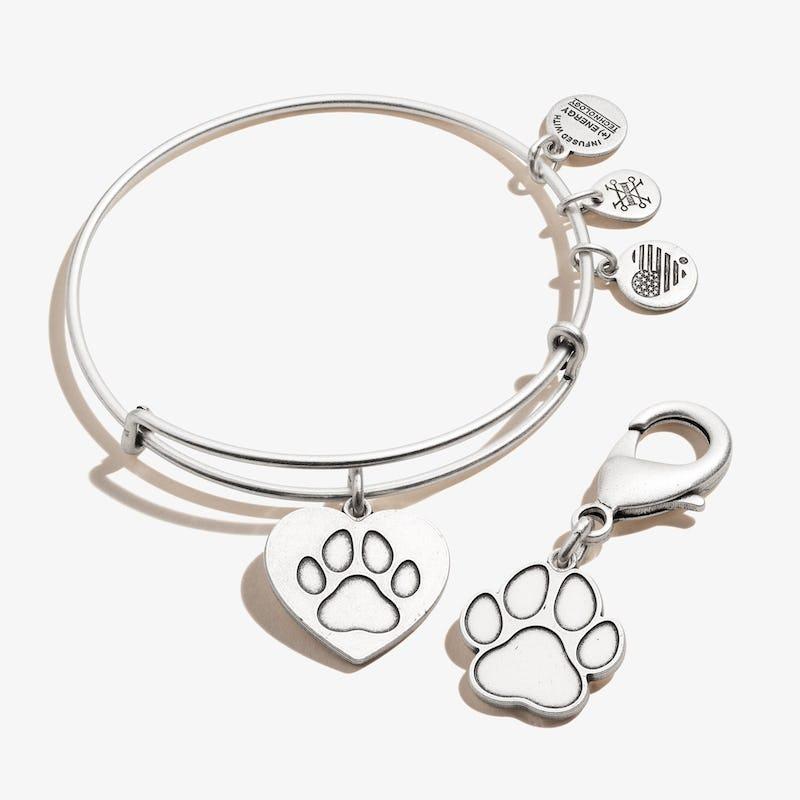 Paw in Heart Charm Bangle + Pet Collar Charm Set