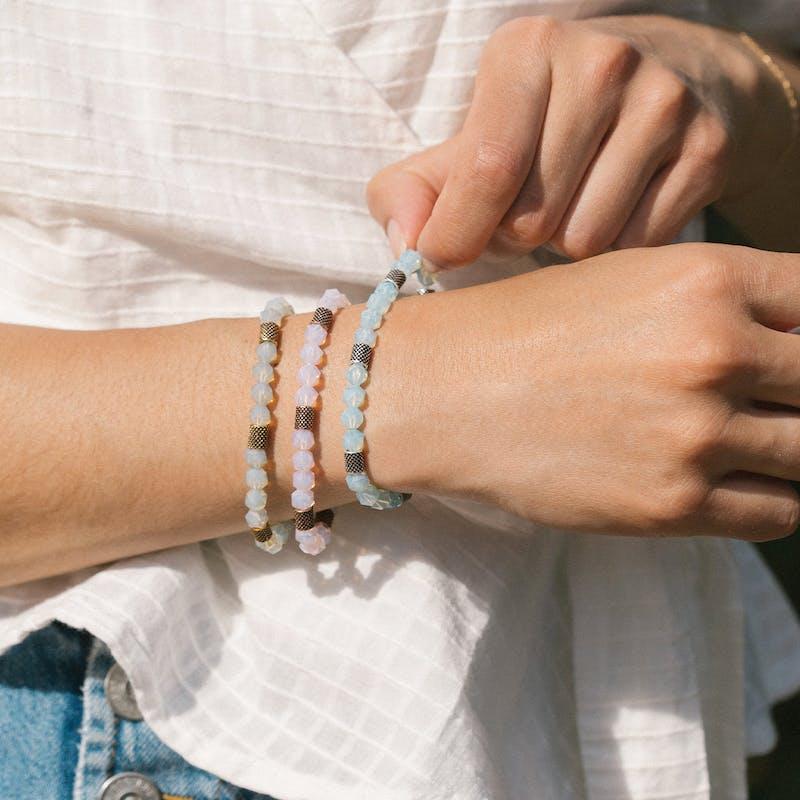 Blue Mermaid Beaded Stretch Bracelet
