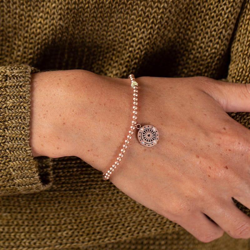 Cosmic Balance Crystal Beaded Stretch Bracelet