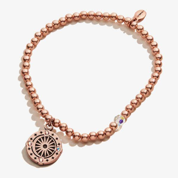 Cosmic Balance Crystal Beaded Stretch Bracelet, Rafaelian Rose Gold, Alex and Ani