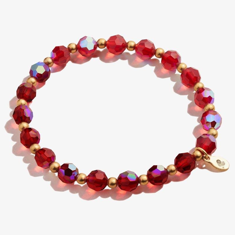 Crystal Stretch Bracelet, Burgundy, Rafaelian Gold, Alex and Ani