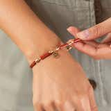 Path of Life® Charm + Red Jasper Stretch Bracelet