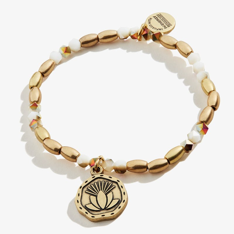 Quan Yin Stretch Bracelet, Rafaelian Gold, Alex and Ani