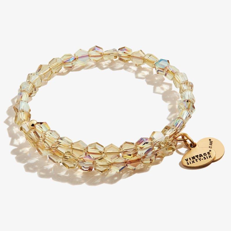 Golden Pixie Beaded Wrap Bracelet