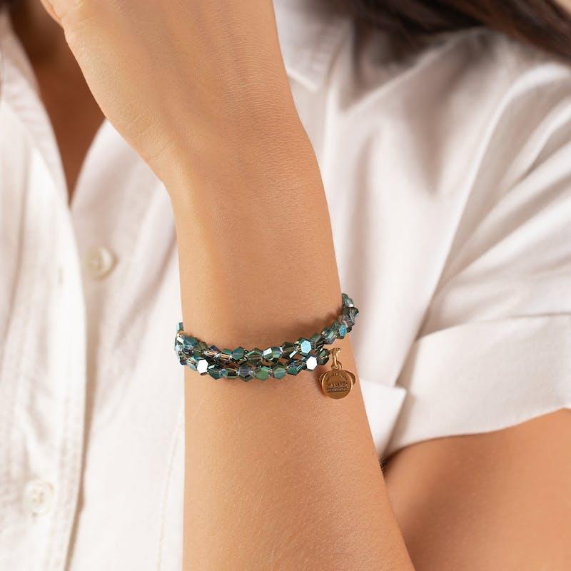 Fern Pixie Beaded Wrap Bracelet