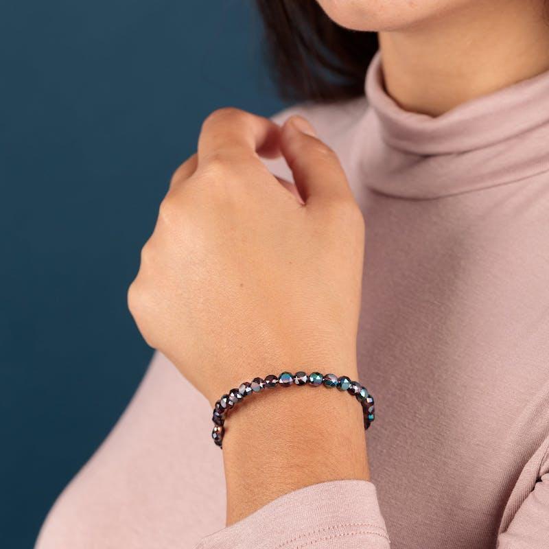 Glam Wrap Bracelet, Plum