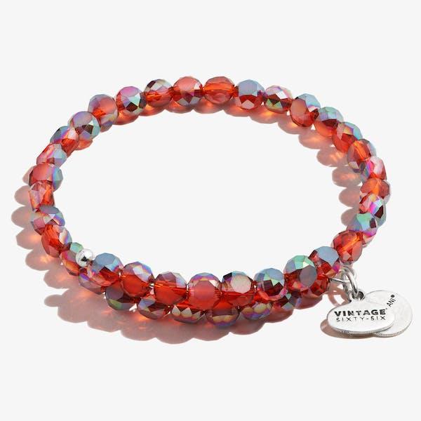 Glam Wrap Bracelet, Ruby
